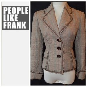 Anthropologie People Like Frank Plaid Blazer